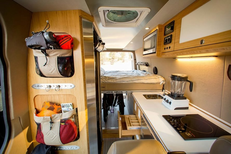 Storage and living space of the Outside Van Powerstation