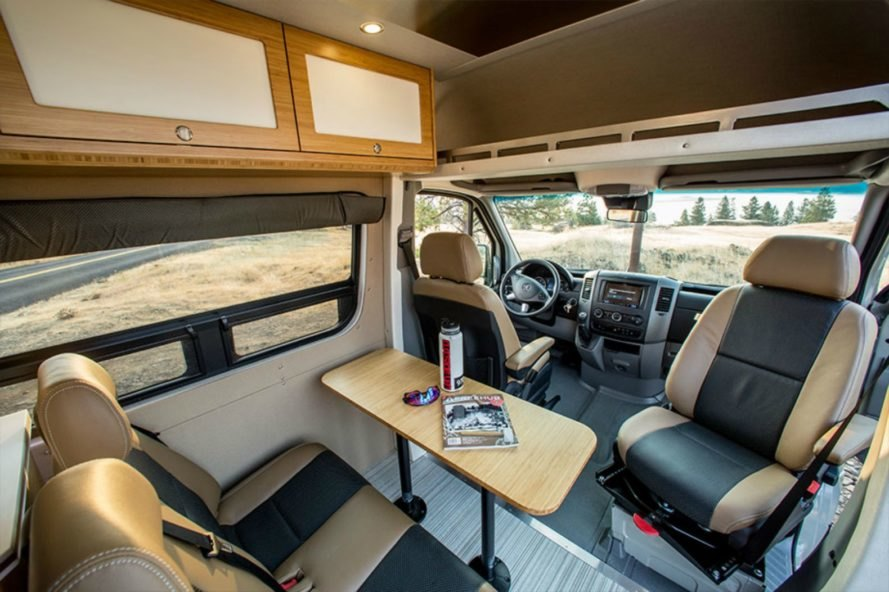 Living and dining space of the Outside Van Powerstation