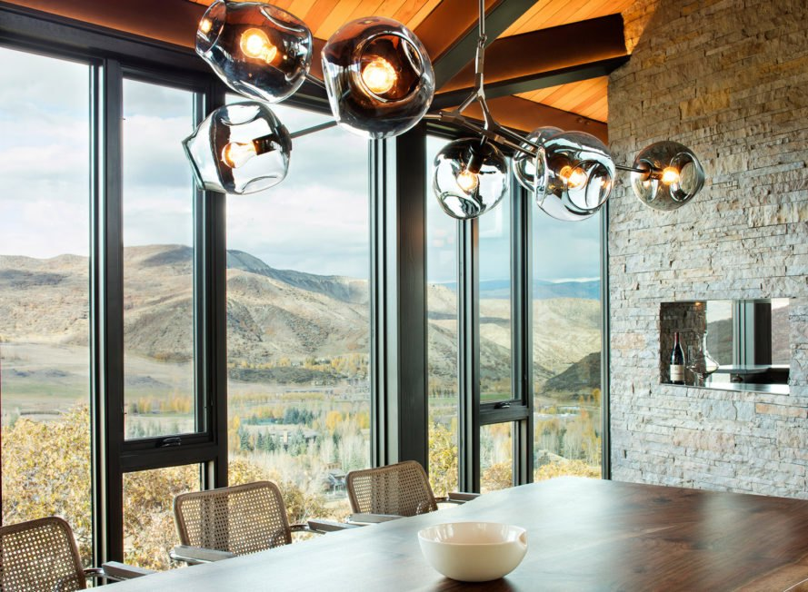 Skylab Architecture, Owl Creek Residence, Colorado, weathering steel, Rocky Mountains, floor-to-ceiling glass walls, green architecture, outdoor terrace, retreat, spa