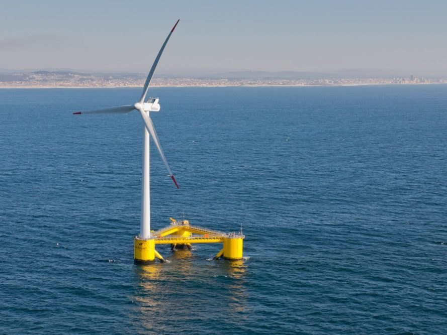 Portugal, Agucadoura, WindFloat, offshore wind, wind power, wind energy, wind turbine