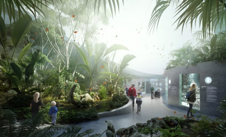 Tropical landscaping Poseidon's Realm by 3XN and GERNER GERNER PLUS