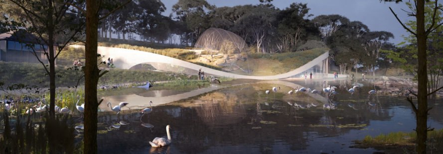 Green roof with aviary Poseidon's Realm by 3XN and GERNER GERNER PLUS