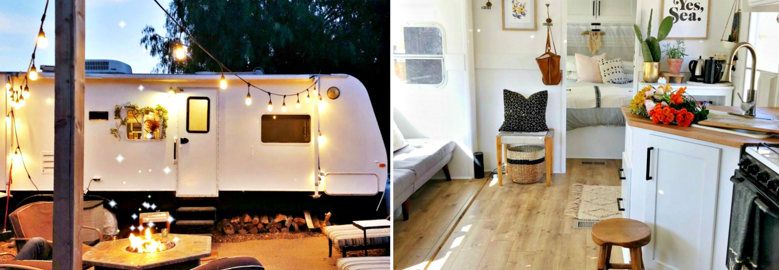 Couple Spends Just 3K To Convert An Old Camper Van Into Chic Living
