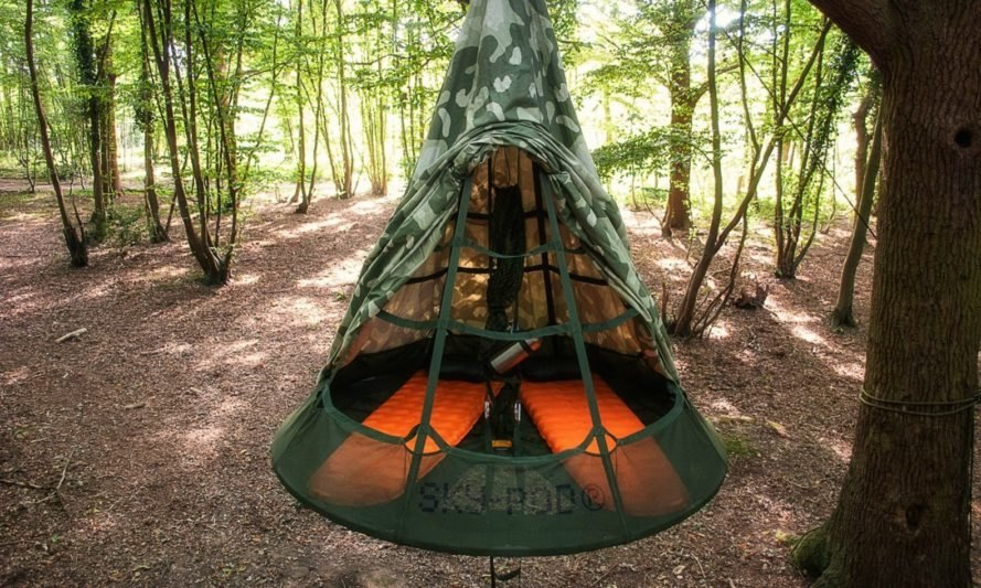 Inside the Sky-Pod Hanging Tent