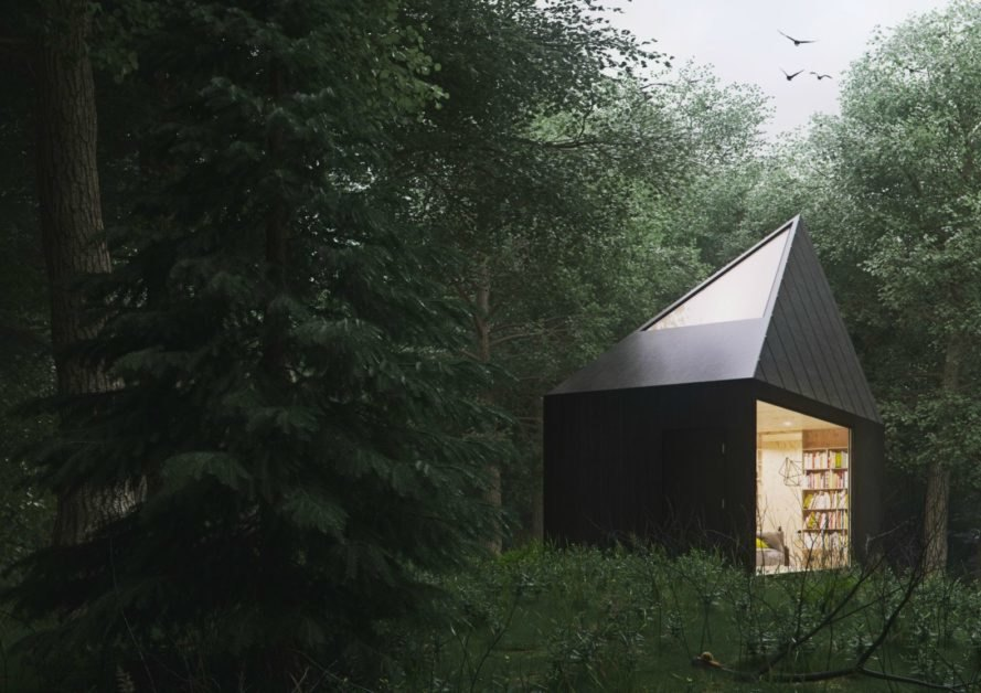 Slow Cabins, tiny cabin, forest, tiny house
