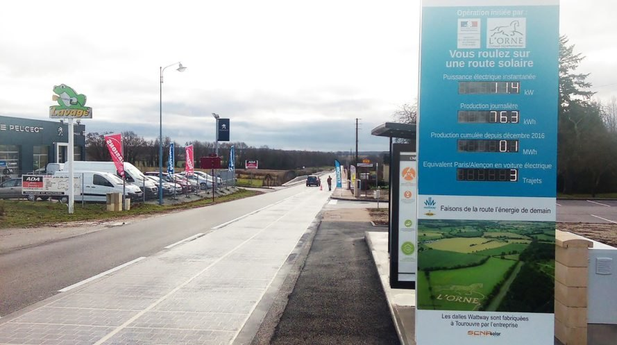 Tourouvre-au-Perche, Colas, Wattway, France, solar road, solar roads