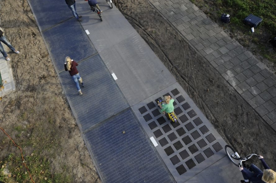 SolaRoad, Krommenie, Netherlands, bike path, bike lane, solar panels, solar road, bicycles