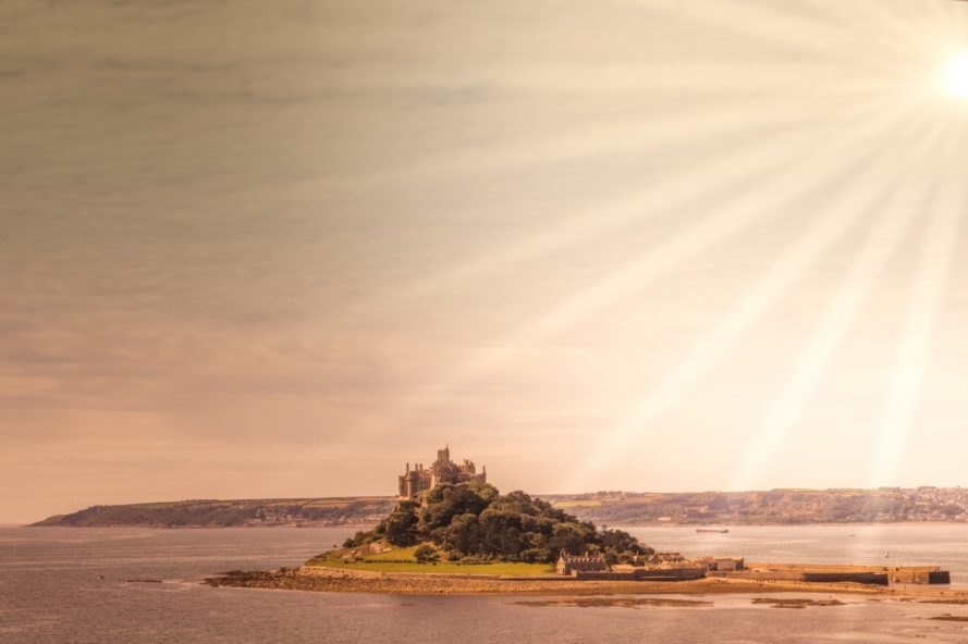 St. Michael's Mount, castle, island, Cornwall, England, abbey