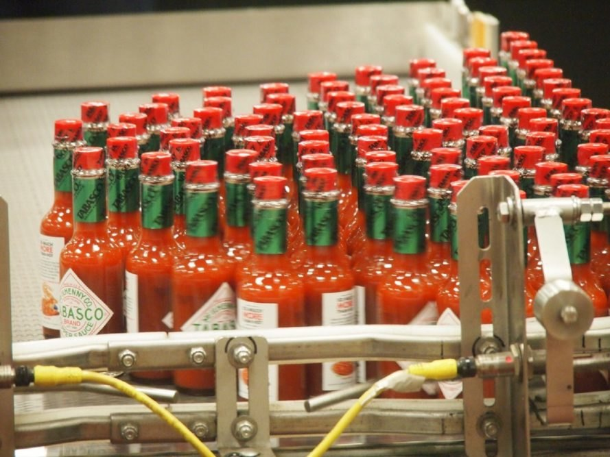Tabasco, hot sauce, Tabasco factory, Tabasco bottle