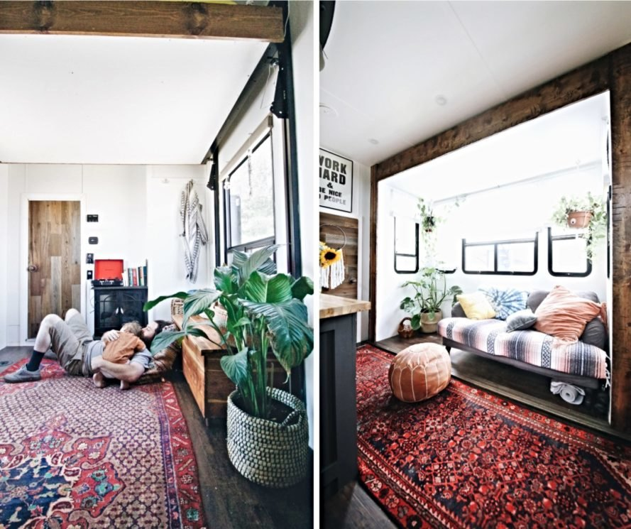 Interior living space with persian rugs