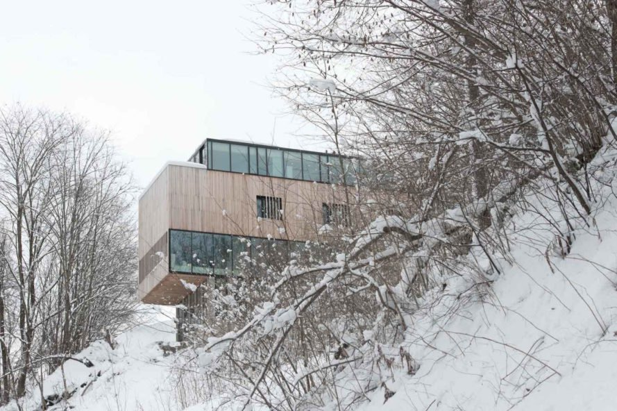 The home set on a steep slope Two-in-One House by Reiulf Ramstad Arkitekter
