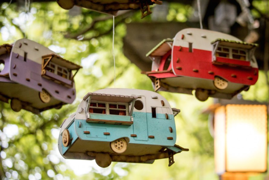 hanging birdhouse Vintage Camper Birdhouse by One Man One Garage