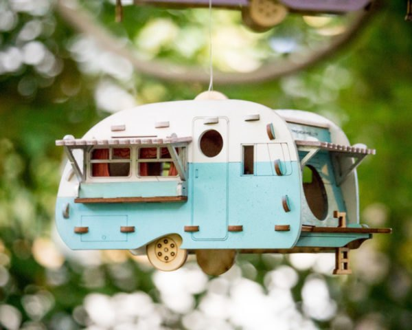 side view Vintage Camper Birdhouse by One Man One Garage