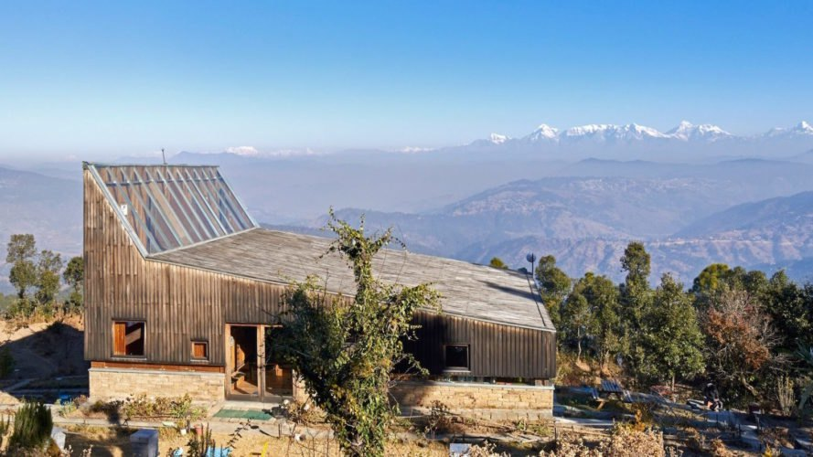 Wake up to Himalayan views in this timber-clad holiday home in India