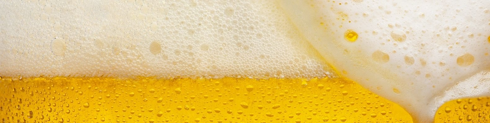 Close-up image of beer bubbles.