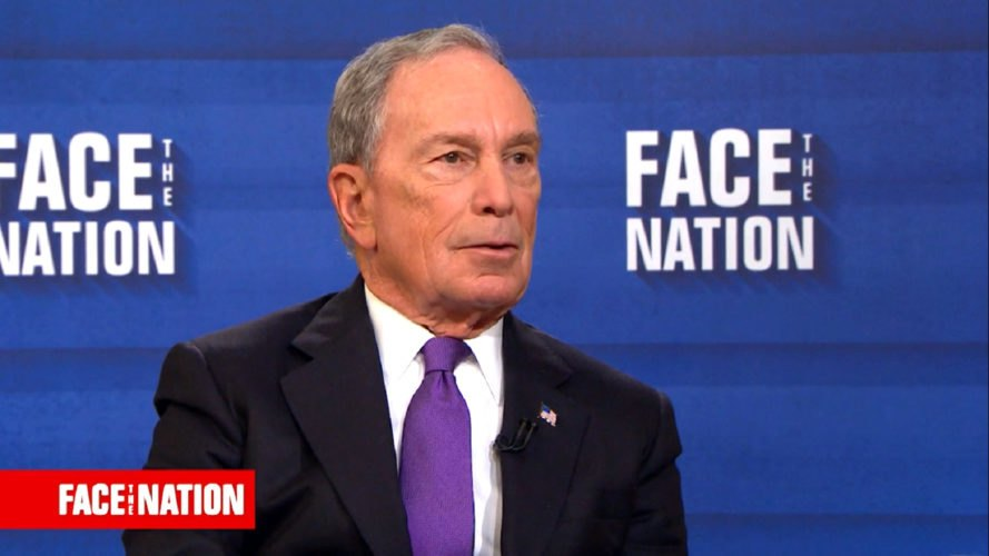 Michael Bloomberg sits for an interview on Face the Nation