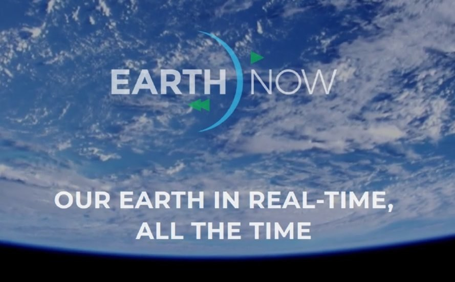 EarthNow logo over the planet Earth