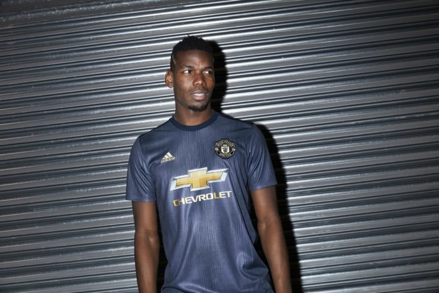Jersey or shirt for Manchester United created by Adidas and Parley for the Oceans with recycled plastic