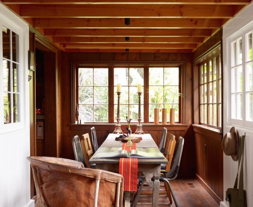 dining room of Agate Pass Cabin by Olson Kundig