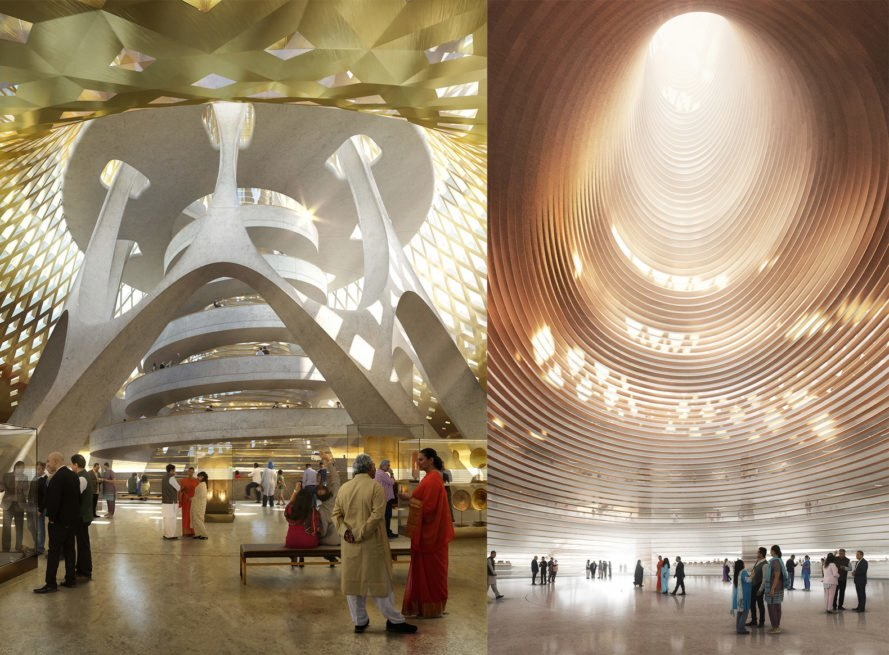 high court complex interior Amaravati by Foster + Partners