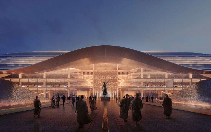 night view Amaravati by Foster + Partners