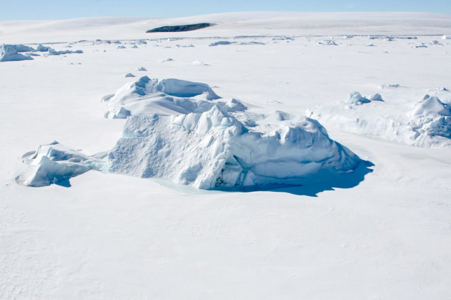 Aerial view of sea ice in the Antarctic