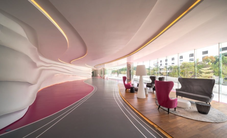 lobby at Arte S by SPARK Architects