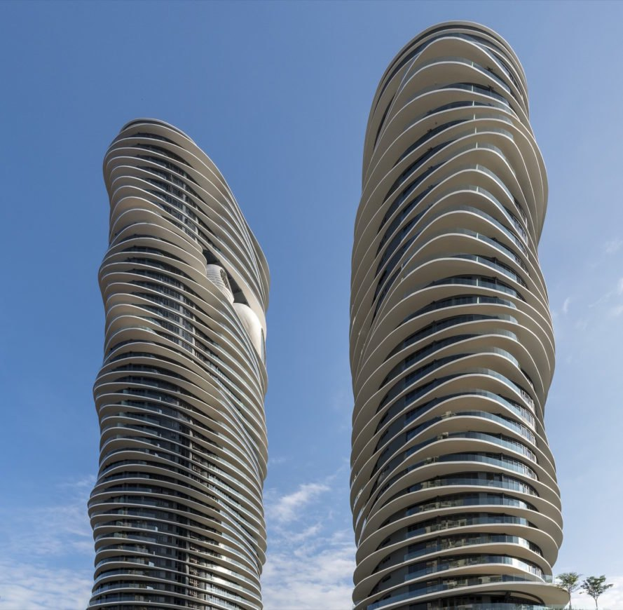 Twin towers at Arte S by SPARK Architects