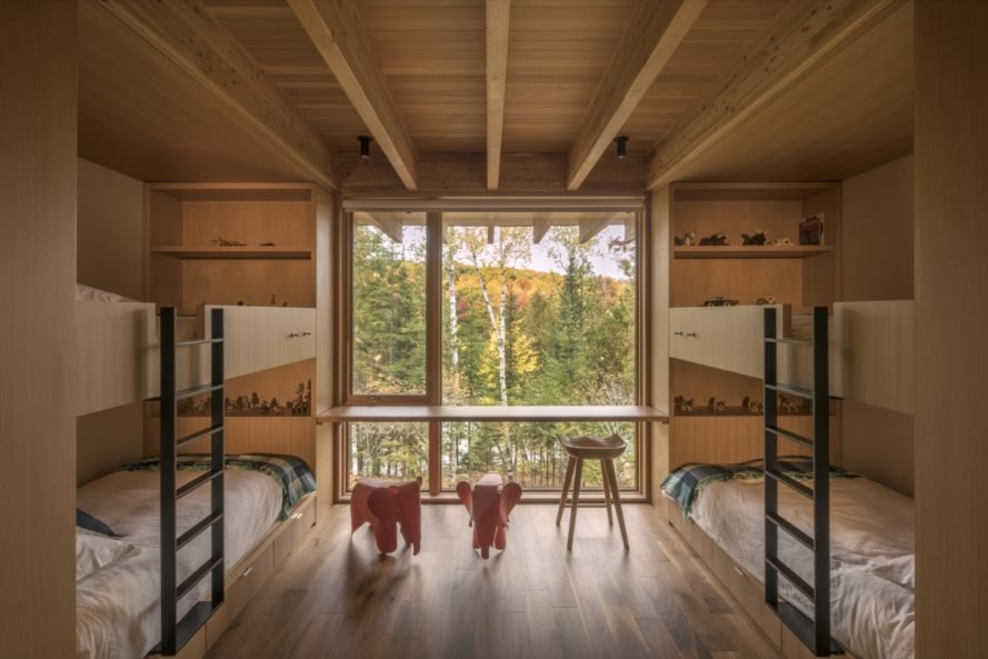 bunk bed room Bear Stand Residence by Bohlin Cywinski Jackson