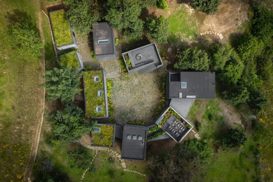 aerial view Casa Bruma by Fernanda Canales and Claudia Rodriguez