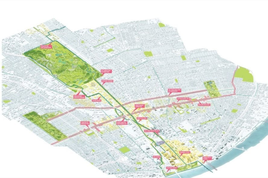 diagram Chouteau Greenway by Stoss Landscape Urbanism