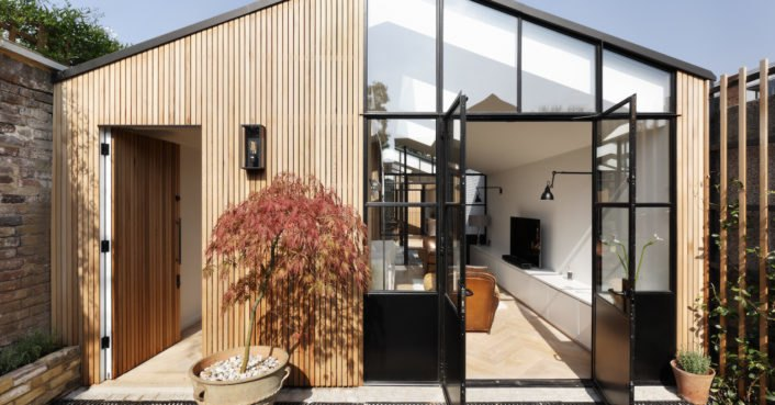 A storage shed is transformed into a bespoke light-filled home in