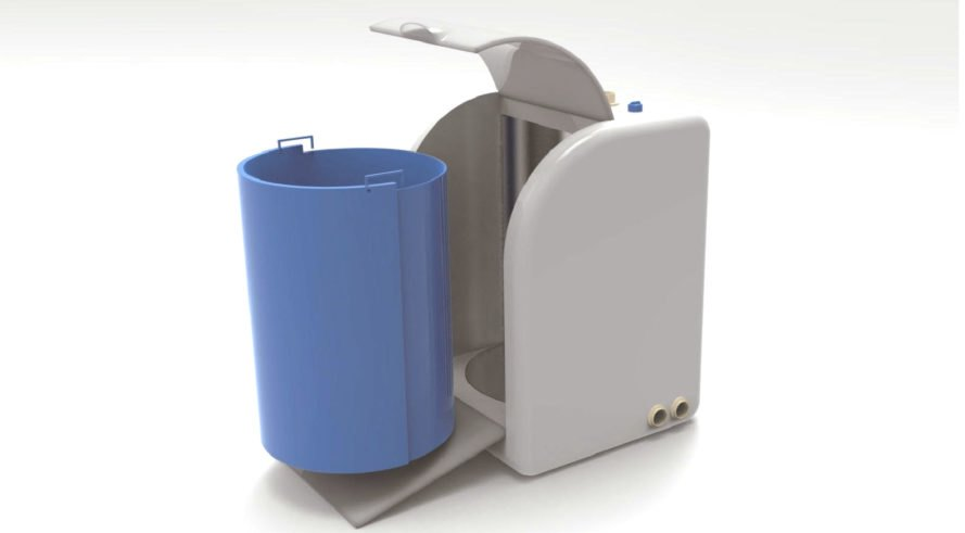 rendering of the recycling machine