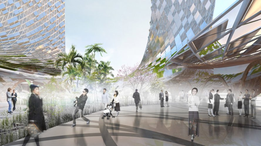 public plaza French Dream Towers by XTU Architects