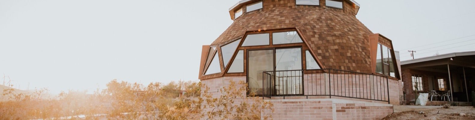 Exterior image of the Geodesic Dome House