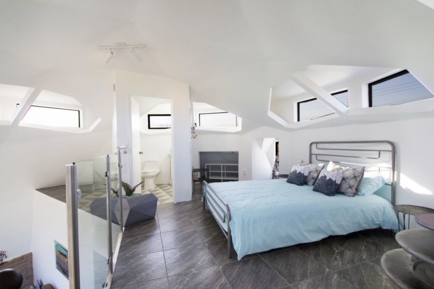 bedroom Geodesic Dome House by Pavlina Williams