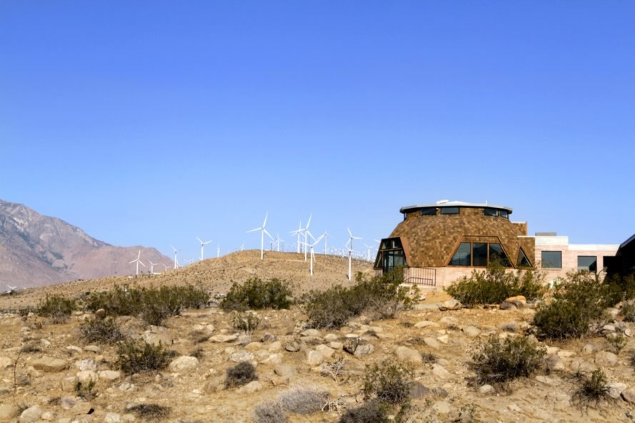 wind turbines Geodesic Dome House by Pavlina Williams