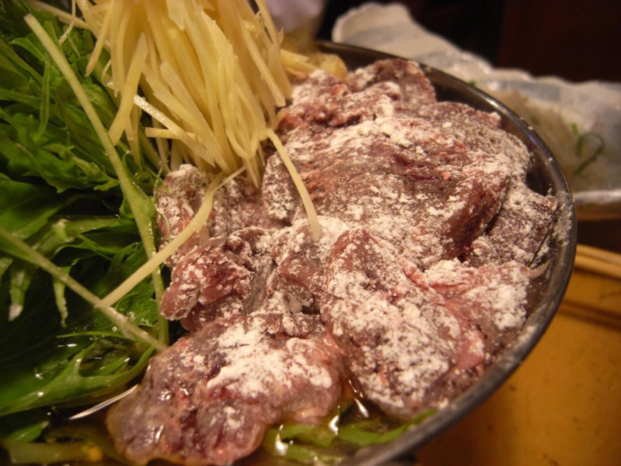 Harihari-nabe is a dish made with minke whale meat