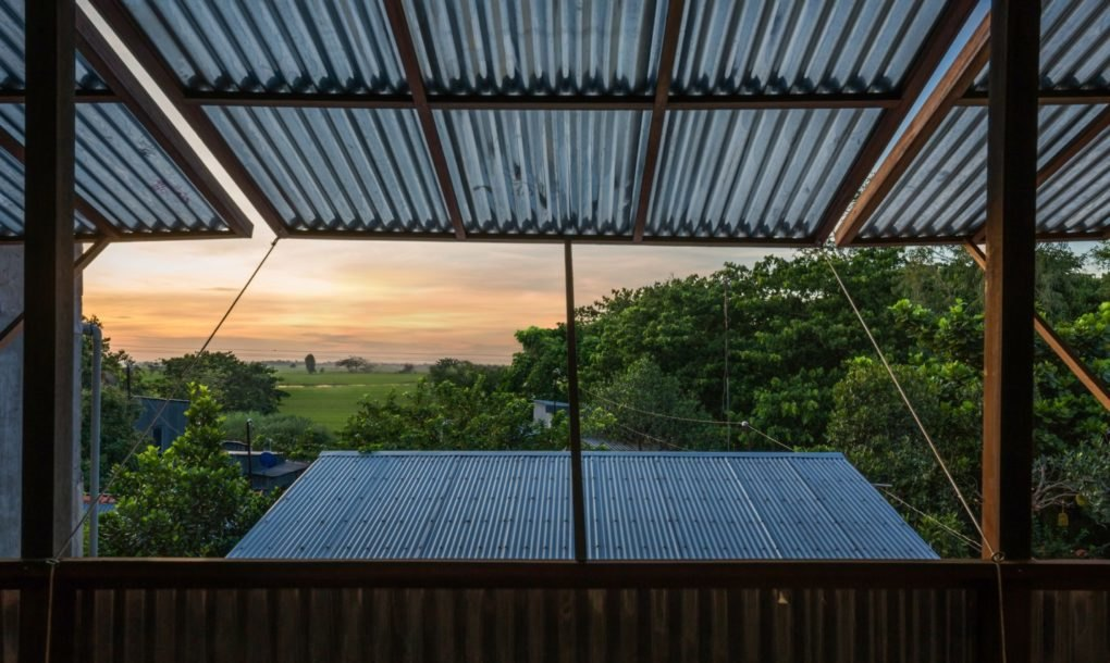The windows provide incredible views of the rice fields in the distance   inhabitant.com