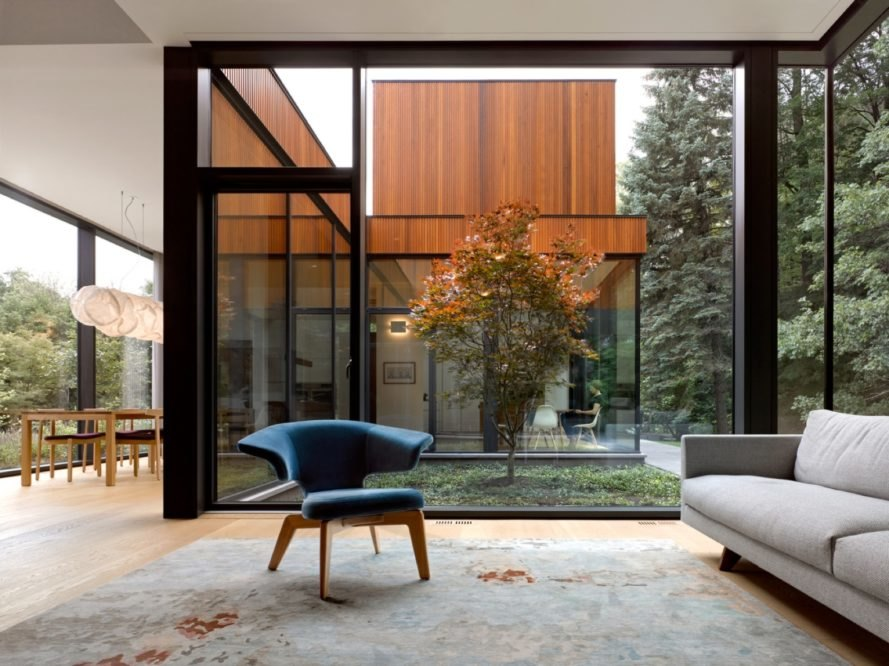 triple glazed window House on Ancaster Creek by Williamson Williamson