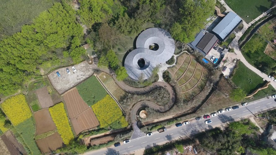 aerial view In Bamboo by Archi-Union Architects