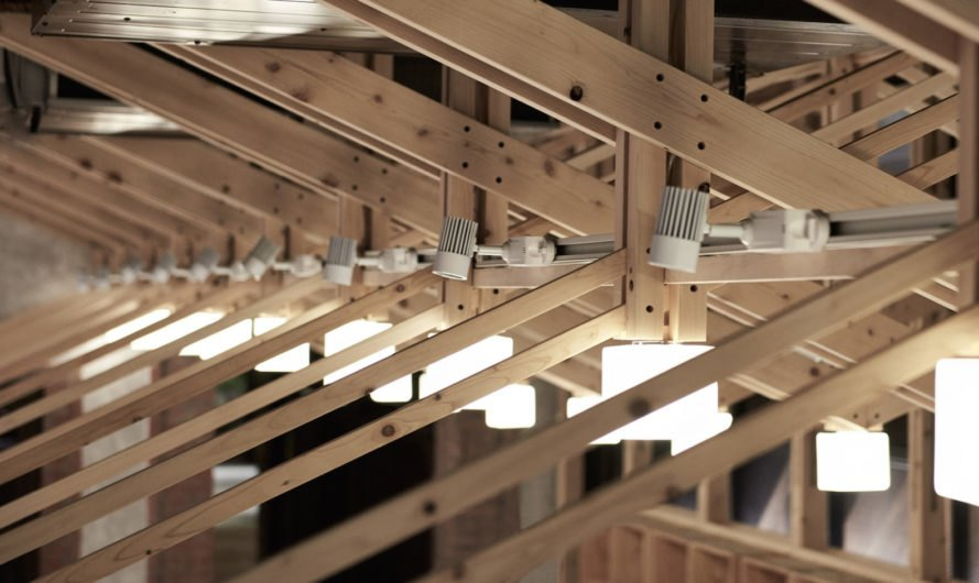 repeating truss Inverted Truss by B+P Architects