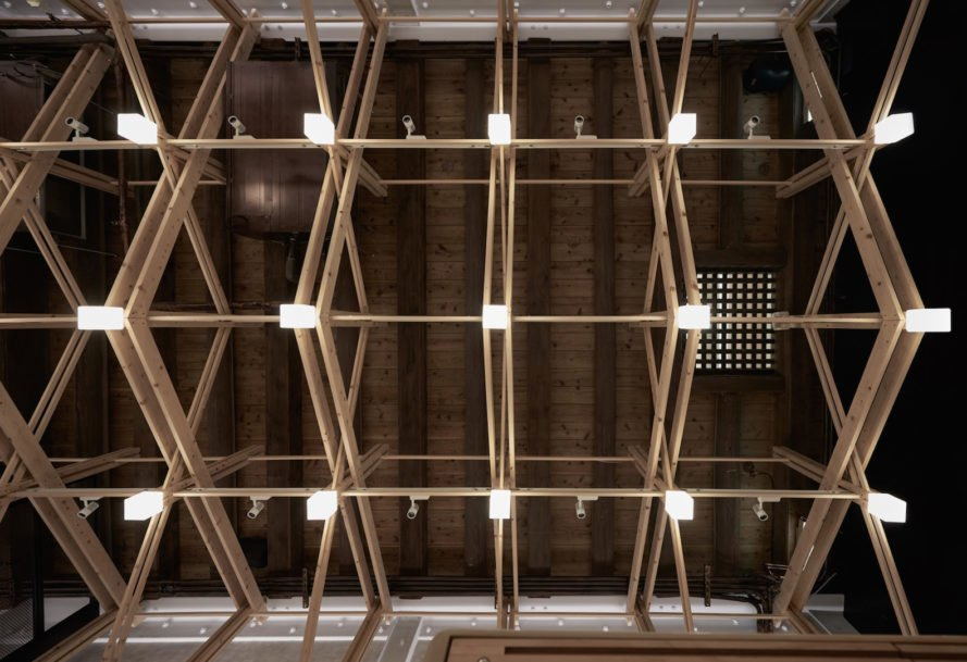 integrated lighting Inverted Truss by B+P Architects