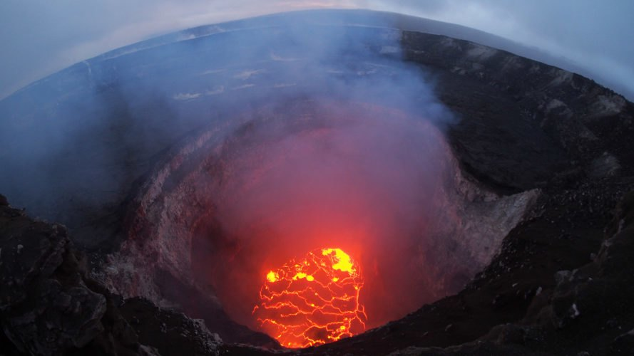 The lava lake in Hawaii's Kilauea volcano
