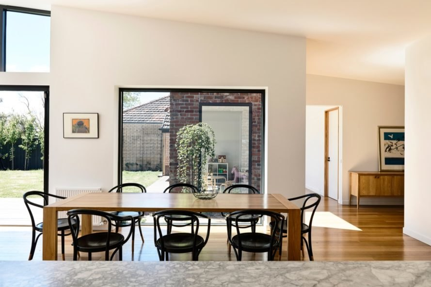 open plan dining room Lake Wendouree House by Porter Architects