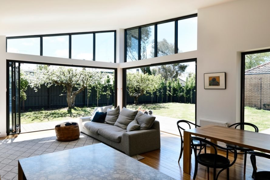 open plan living room Lake Wendouree House by Porter Architects