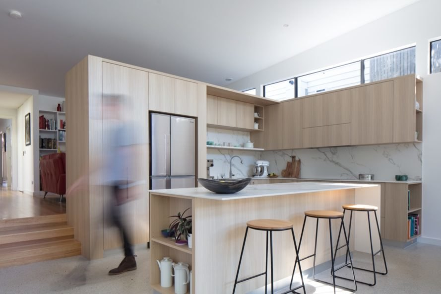 The kitchen of Lawes St Extension - Hawthorn by Habitech Systems