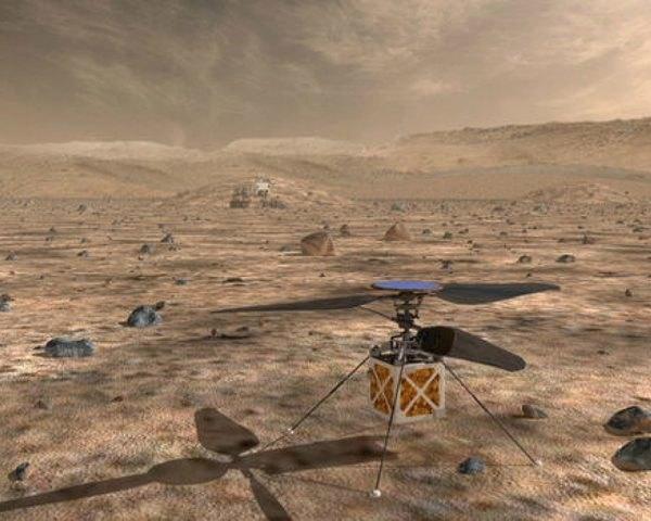 NASA's Mars Helicopter on the surface of Mars