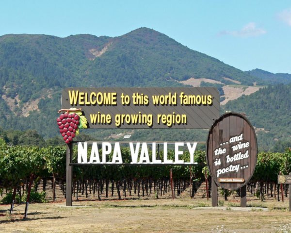 Napa Valley sign reads