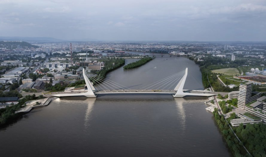 post-industrial revitalization New Budapest Bridge by UNStudio